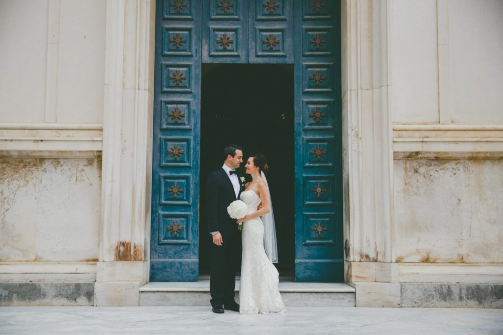 Couple in doorway