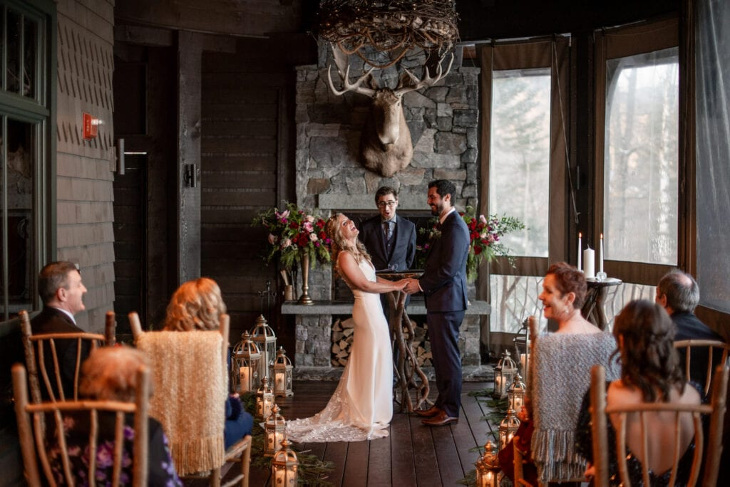 Intimate elopement in Adirondack Mountains