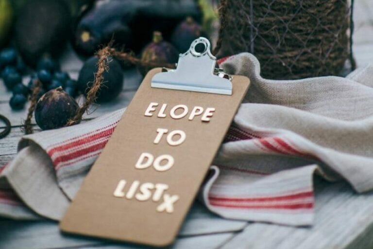 elope to kent to do list